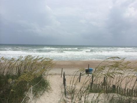 Emerald Isle NC just before Hurricane Arthur came through, July 2014.