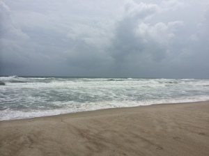 Emerald Isle, NC, 2014, just before Hurricane Arthur arrived.